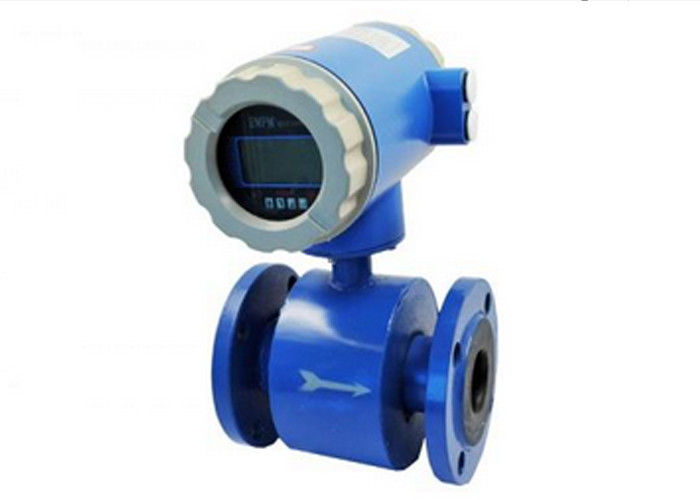 Remote Display DN250 Magnetic Volumetric Flow Meter For Acids Or Caustic Corrosive Fluids
